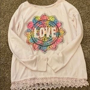 JUSTICE long sleeve sweater